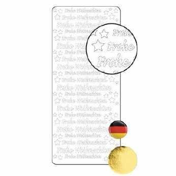 Koreanisch Frohe Weihnachten.Sticker Frohe Weihnachten Gold